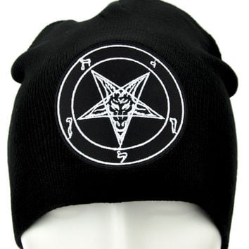 658a2b0d24e Sabbatic Baphomet Goat Head Beanie Occult from YDS Accessories