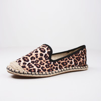 Leopard Canvas Cap Toe Flat