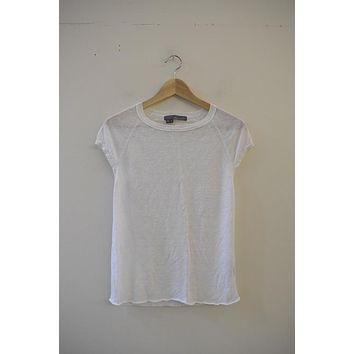 360 Sweater White Linen Shell Tee