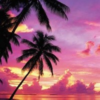 Tahitian Sunset, Photography Poster Print, 24 by 36-Inch