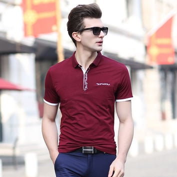 Summer Men's Fashion Men With Pocket Casual Short Sleeve Cotton Tops T-shirts [6543954563]