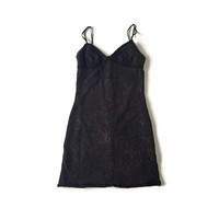 90's Sexy Goth Black Lace Mini Dress