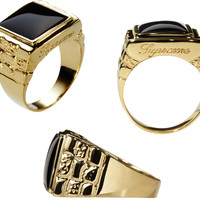 Supreme Onyx Pinky Ring