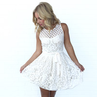 Taking Shape Lace Babydoll Dress