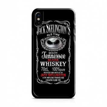 Jack Skellington Whiskey Daniels iPhone X Case
