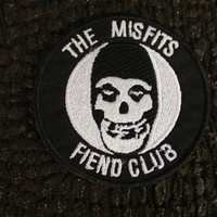 Misfits Fiend Club Iron-on Patch: 3 inches