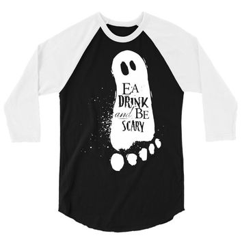 eat drink and be scary 3/4 Sleeve Shirt