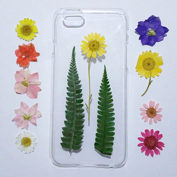 pressed flower iPhone 5s Case, iPhone 6 Plus Case clear, iPhone 5c Case flower, iphone 4s Case clear, pressed flower iphone 5 case