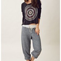 Sundry Flags Cropped Pullover