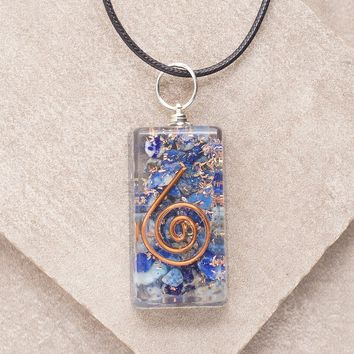 Lapis Orgone Pendant Necklace