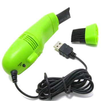 Computer Keyboard Min Vacuum - Powered by USB , 2 Nossel , ( Neon Green)