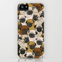 Social Pugz iPhone & iPod Case by Huebucket