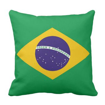 Brazilian Flag American MoJo Pillow