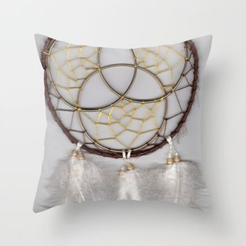Trinity Dream Catcher Throw Pillow by livingworddesigns