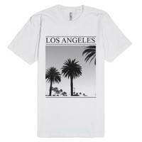 Los Angeles Palm Trees-Unisex White T-Shirt