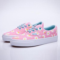 Vans Trending Women Stylish Floral Daisy Canvas Old Skool Sneakers Sport Shoes Pink I12356-1
