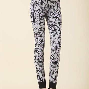 Butterfly Print Bandage Leggings