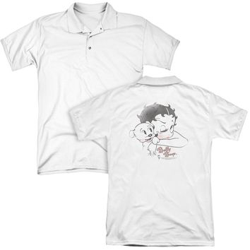 Betty Boop - Vintage Wink (Back Print) Mens Regular Fit Polo