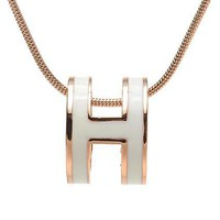 Hermes Woman Fashion Logo Plated Necklace For Best Gift