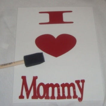 Mother's Day Gift :DIY Children's Canvas Stencil Art. 20% of profit goes to charity.