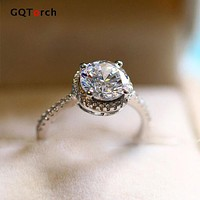 Princess Cut Engagement Rings For Women Solitario 1.2 Carat Cubic Zirconia Eight Heart Eight Arrows Fashion Jewelry