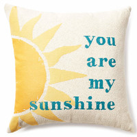 """You Are My Sunshine"" Throw Pillow, (20"" x 20"") 