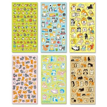 DIY Colorful dog 3D kawaii Stickers Diary Planner Journal Note Diary Paper Scrapbooking Albums PhotoTag