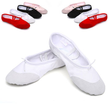 Canvas Flat Ballet Shoes