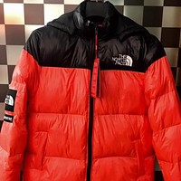 Supreme X The North Face Women Men Fashion Multicolor Hooded Down Jackets