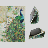 iPad Cover Hardcover, iPad Case, iPad Mini Cover, iPad Mini Case, iPad Air Case, iPad 2, iPad 3, iPad 4, iPad 5 Gold Paisley Peacock