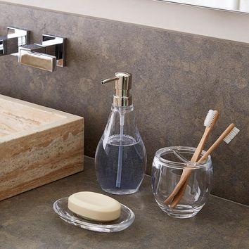 Umbra Droplet Acrylic Countertop Bathroom Set
