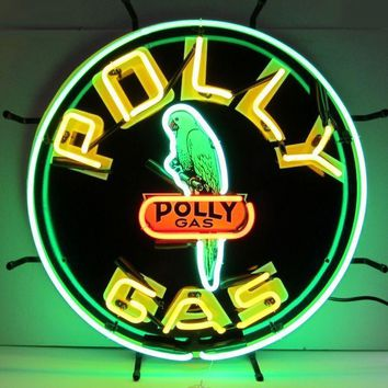 Polly Gasoline Decal Neon Sign