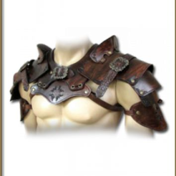 Pauldrons Predator - Shoulder & Neck - Leather Armour - Armour