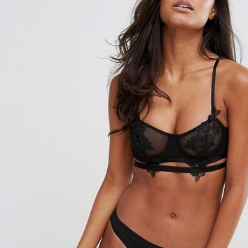 River Island Applique Underwire Bra at asos.com