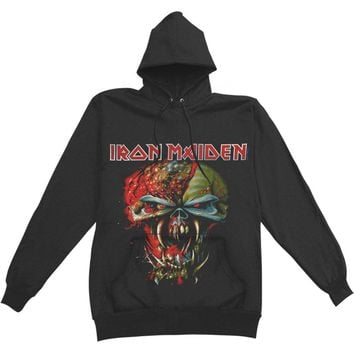 Iron Maiden Men's  Final Frontier Big Head Hooded Sweatshirt Black Rockabilia