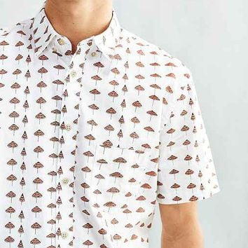 Barney Cools Beach Print Short-Sleeve Button-Down Shirt