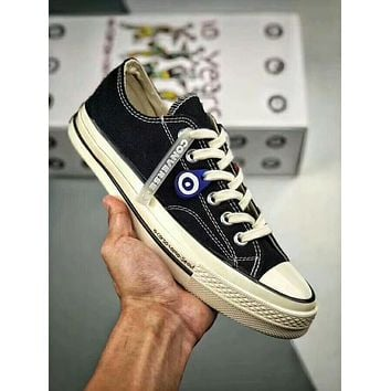 Converse X Corso Como Chuck Taylor 70S Trending Women Men Retro Stylish Canvas Flat Low Top Sport Shoe Sneakers Black I-A50-XYZ