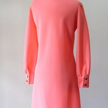 vintage-lacoste-dress-pink-shift-1970s-casual-day-dress-izod-dress-izod-lacoste-chemis number 1