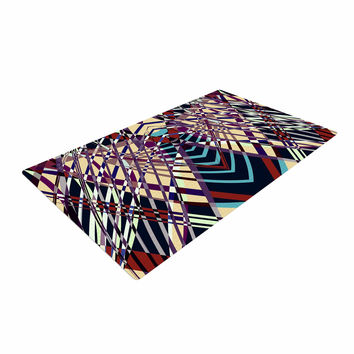 "Pia Schneider ""SWEEPING LINE PATTERN I-E"" Multicolor Geometric Woven Area Rug"