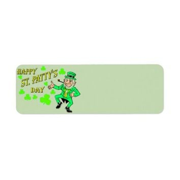 St. Patrick's Day Address Label