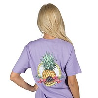 Southern Hospitality Pocket Tee in Lavender by Lauren James - FINAL SALE