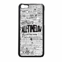 All Time Low Quotes Art iPhone 5c Case