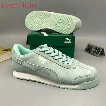 PUMA Roma Basic Women Casual Running Sport Shoes Sneakers Light blue G-MPYDX