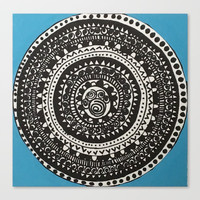 Mandalas in Effect - Blue Canvas Print by Express Yourself Studios, LLC