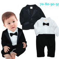 Fashion Baby Romper New Baby boys Romper Gentleman modelling infant long sleeve climb clothes kids body suit for special event