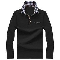 Polo Men Shirt Mens Long Sleeve Solid Shirts Camisa Polos Masculina Casual cotton Striped Plus size S-10XL Brand New Tops Tees