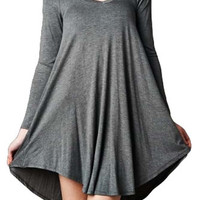 Long Sleeves Trapeze Swing Dress