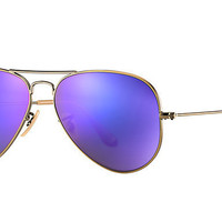 Ray Ban Aviator Sunglass Bronze Purple Mirrored RB 3025 167/1M