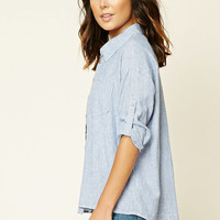 Pinstripe Chambray Top
