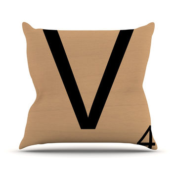 "KESS Original ""V"" Letters Throw Pillow"